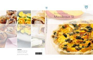 Livre de recettes Microbraun SL (PDF / 5.0 MB) - V-ZUG Ltd