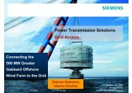 Power Transmission Solutions Grid Access - Siemens