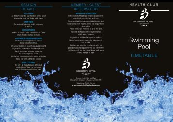 Download Our Swimming Timetable Here - Bicester Hotel, Golf and ...