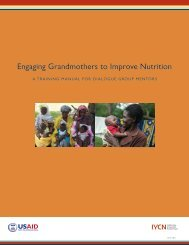 Engaging Grandmothers to Improve Nutrition - USAID's Infant ...