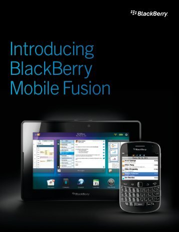 Introducing BlackBerry Mobile Fusion