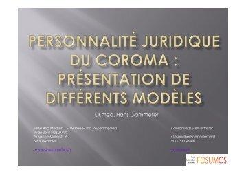 présentation de différents modèles, Dr. med. Hans Gammeter