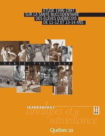 Études 1996-1997 sur la santé buccodentaire des élèves québécois ...