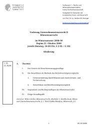 Gliederung der Vorlesung im WS 2008/09 - Fachbereich Rechts ...
