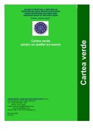 C artea verd e - European Union of Rechtspfleger