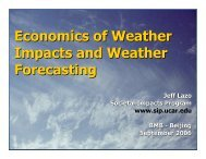 Economics of Weather Impacts and Weather Forecasting - Societal ...