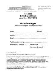 für Schüler Arbeitsmappe Praktikum kurz.pdf - Realschule Ebersberg