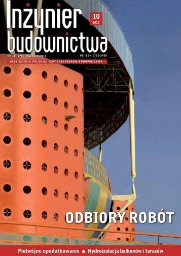 ODBIORY ROBÓT - Polska Izba Inżynierów Budownictwa