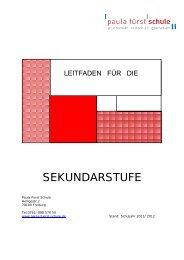 SEKUNDARSTUFE - Paula Fürst Schule
