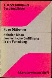 Hugo Dittberner Heinrich Mann. Eine kritische ... - buchkalmar.de