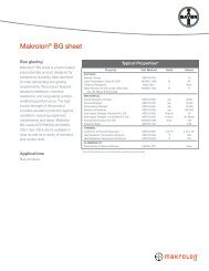 Makrolon® BG sheet - Sheffield Plastics