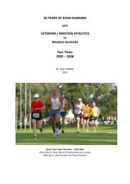 30 Years of Road Running-Part 3 - Masters Athletics W.A.