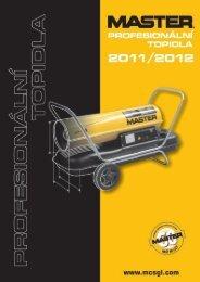 Katalog topidel Master 2011_2012 - Profi-elektro.cz