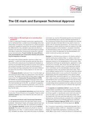 The CE mark and European Technical Approval - Kalzip