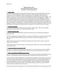 draft September Minutes - Connecticut Energy Advisory Board