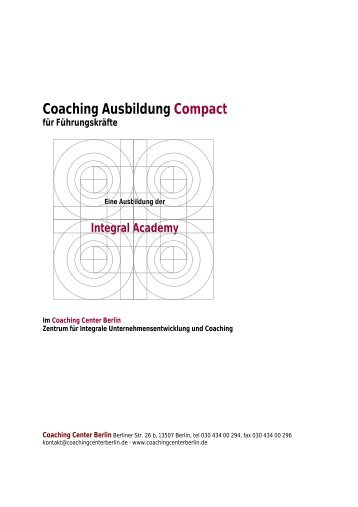 Curriculum - Coaching Center Berlin