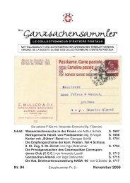 84 - Schweizerischer Ganzsachen-Sammler-Verein