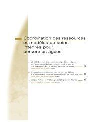 Coordination des services aux personnes âgées en France et au ...