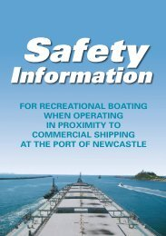 Safety Information, Port of Newcastle - NSW Maritime