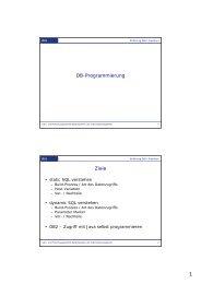 1 DB-Programmierung Ziele - dbis