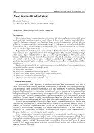 Alcol: immunità ed infezioni - Ce.Do.S.T.Ar.