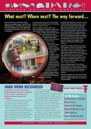 2168 PBS News Winter 08:PBS - Parker Building Supplies