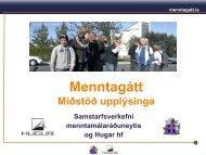 Menntagátt - miðstöð upplýsinga (PDF - 950Kb)