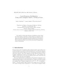 Laser Frequency Stabilization Using Linear Magneto-Optics ...