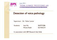 Detection of voice pathology - SIPL