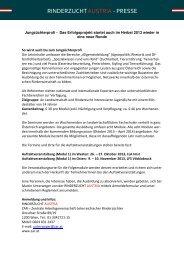 Jungzüchterprofi - Infoschreiben... - Braunvieh Vorarlberg