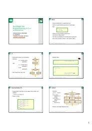 Grundlagen der Programmierung in C++