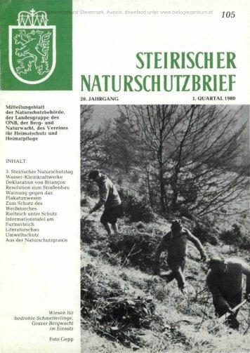 STEIRISCHER NATURSCHUTZBRIEF