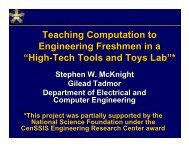 Teaching Computation to Engineering Freshmen in a - Center for ...