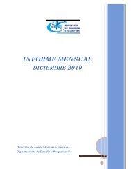 informe mensual octubre 2010 - Ministerio de Comercio e Industrias