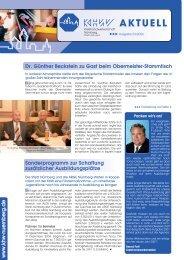 Dr. Günther Beckstein zu Gast beim Obermeister-Stammtisch