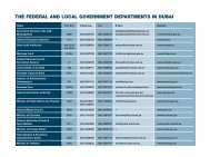 The Federal And Local Government Departments In Dubai