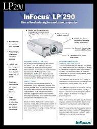 Download Spec Sheet - Projector Galaxy