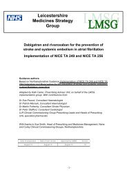 Guidelines for the use of dabigatran and rivaroxaban for the ...