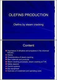 OLEFINS PRODUCTION - TVK