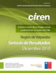 Determinación de la erosión actual y potencial de los suelos de Chile