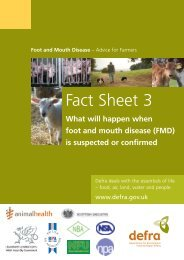 What will happen when foot and mouth disease is suspected or ...