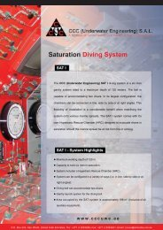 1 SAT I, 6 - Man Saturation System - CCC (Underwater Engineering)