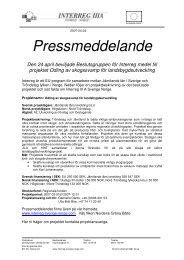 2007-04-24 Pressmeddelande - Interreg Sverige Norge