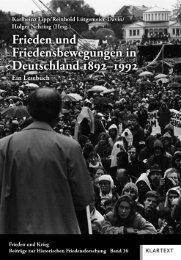 Frieden als Herausforderung für die deutsche ... - Klartext Verlag
