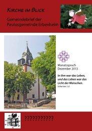 Weihnachten 2013 - Paulusgemeinde