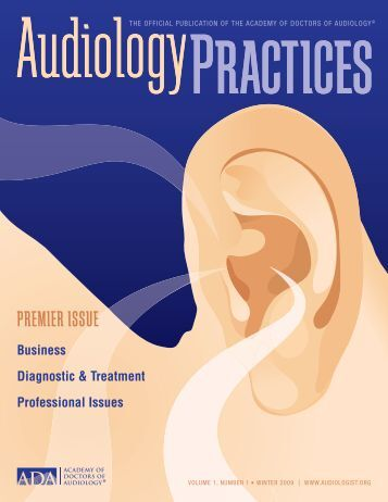 ADA Journal_Winter 2009.indd - Academy of Doctors of Audiology