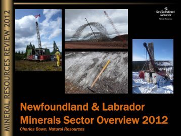 Minerals Sector Overview (2012 - Department of Natural Resources