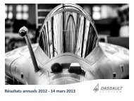 Présentation Résultats 2012 - application/pdf - Dassault Aviation