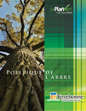 Politique de l'arbre (PDF) - Ville de Terrebonne