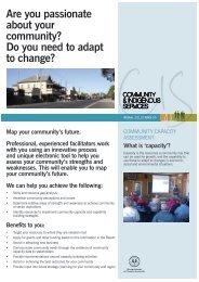 Community Capacity Assessment - Rural Solutions SA